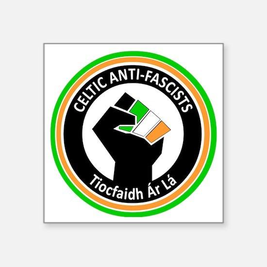 "Celtic Antifascists Square Sticker 3"" x 3"""