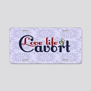 Love Life Cavort Aluminum License Plate
