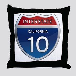 Interstate 10 - California Throw Pillow