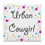 urban cowgirl stars Tile Coaster