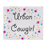 urban cowgirl stars Throw Blanket