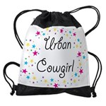 urban cowgirl stars Drawstring Bag