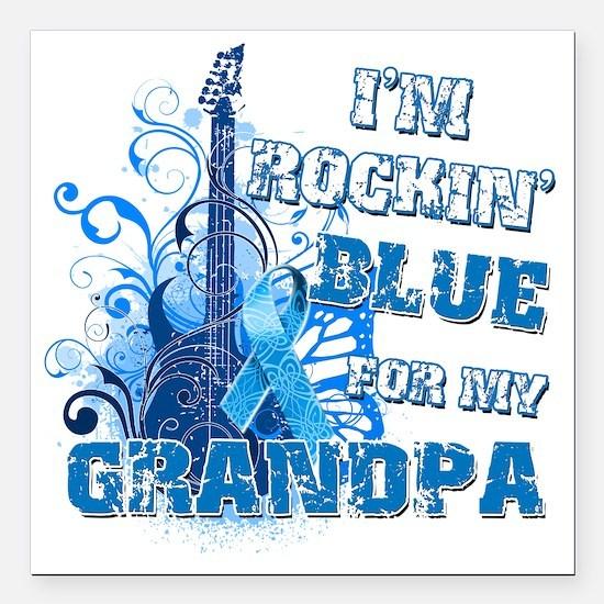 "Im Rockin Blue for my Gr Square Car Magnet 3"" x 3"""