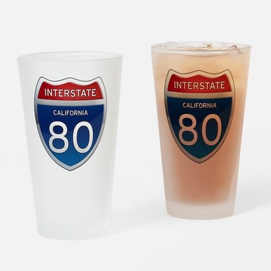 Interstate 80 - California Drinking Glass