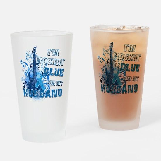 Im Rockin Blue for my Husband Drinking Glass