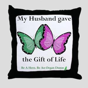 HusbandGaveButterfly Throw Pillow