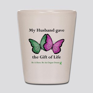 HusbandGaveButterfly Shot Glass