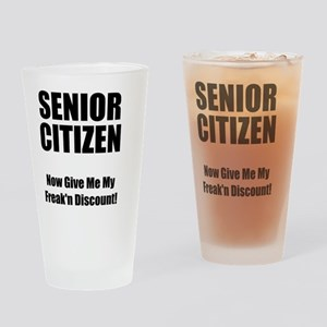 Senior Citizen Black Drinking Glass