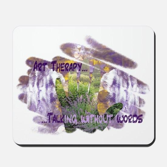 Handprint-Rorschach Collage (Tempera  Co Mousepad