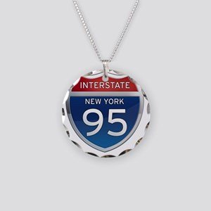Interstate 95 - New York Necklace Circle Charm