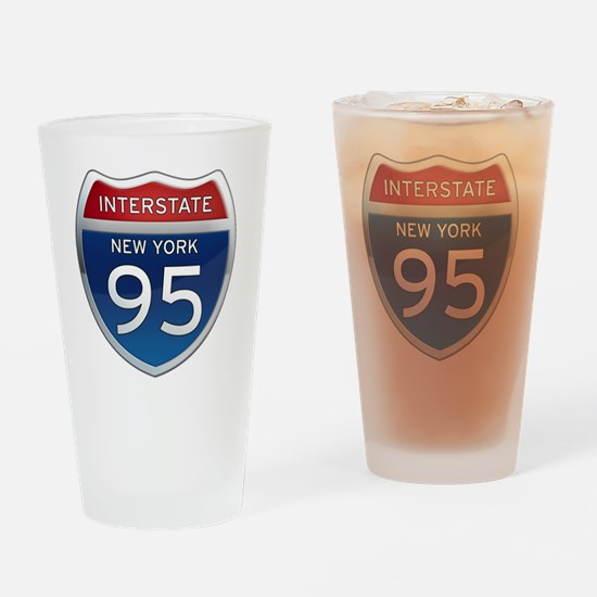 Interstate 95 - New York Drinking Glass