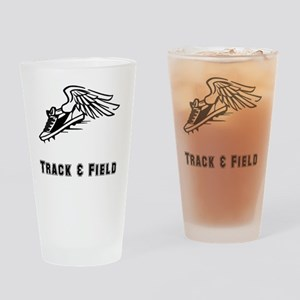 Track Field Black Only Drinking Glass