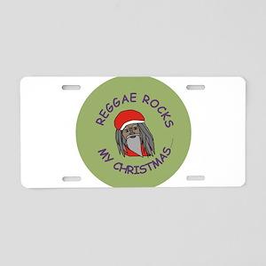 Reggae Rocks My Christmas Aluminum License Plate