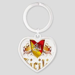 sicilia Heart Keychain