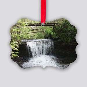YellowSpringsWaterfall-poster Picture Ornament