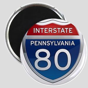 Interstate 80 - Pennsylvania Magnet