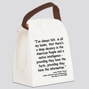 Terkel Decency Quote Canvas Lunch Bag