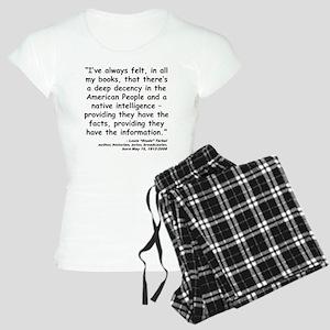 Terkel Decency Quote Women's Light Pajamas