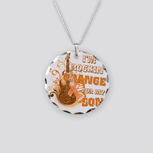 Im Rockin Orange for my Son Necklace Circle Charm