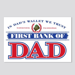 First Bank Of Dad Postcards (Package of 8)