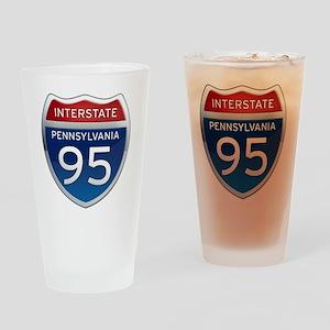 Interstate 95 - Pennsylvania Drinking Glass