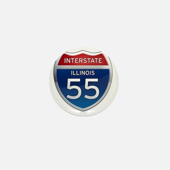 Interstate 55 - Illinois Mini Button