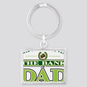 The Bank of Dad Landscape Keychain