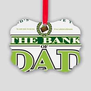 The Bank of Dad Picture Ornament