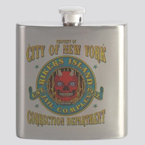 RIKERS_ISLAND_5x4_pocket Flask