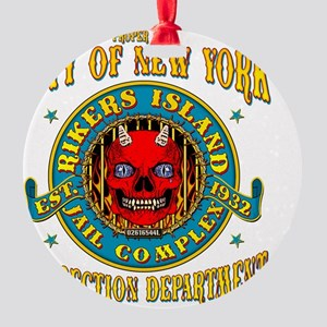 RIKERS_ISLAND_5x4_pocket Round Ornament