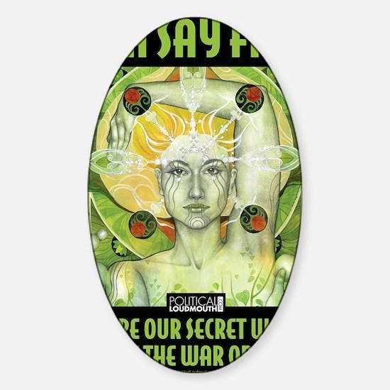 WAR WOMEN GAIA 8.5x11 Sticker (Oval)