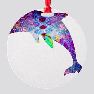 dolphin Round Ornament
