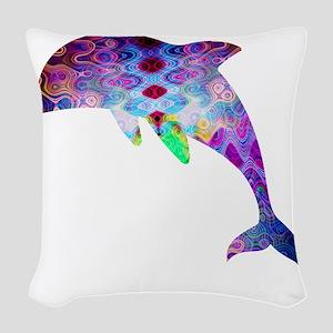 dolphin Woven Throw Pillow