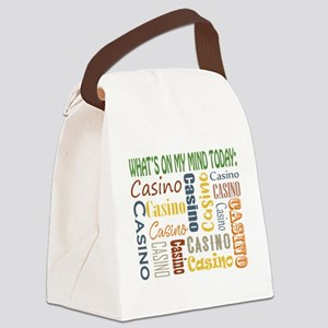 What's On My Mind Today: Casino Canvas Lunch Bag