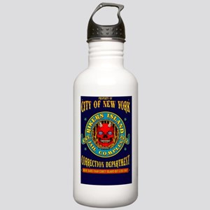 RIKERS_ISLAND_GREETING Stainless Water Bottle 1.0L