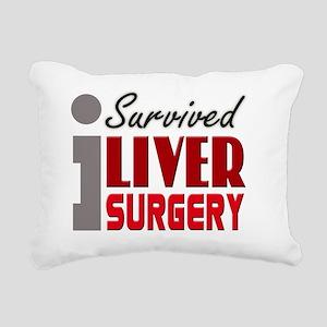 isurvived-liversurgery Rectangular Canvas Pillow