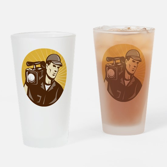 cameraman filmcrew with video movie Drinking Glass