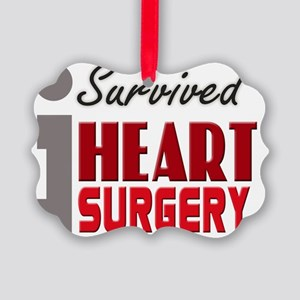 isurvived-heartsurgery Picture Ornament