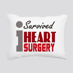isurvived-heartsurgery Rectangular Canvas Pillow
