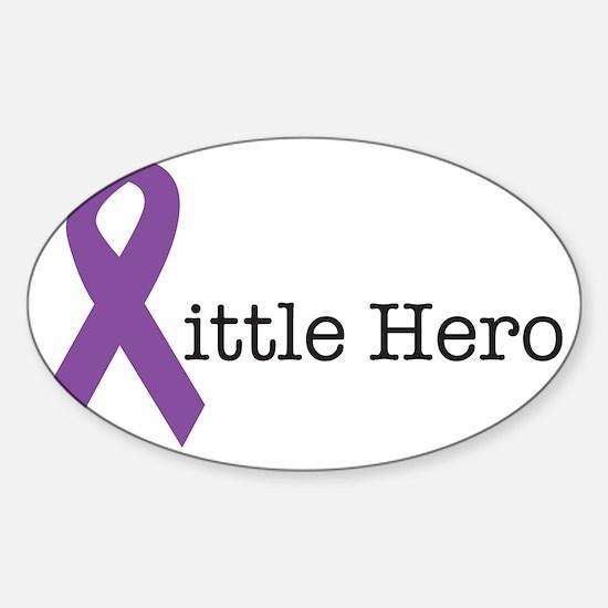 littleheropurple Sticker (Oval)