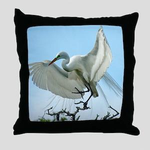 WhiteHeront_5X7 Throw Pillow