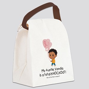breast-cancer-total-knockout Canvas Lunch Bag