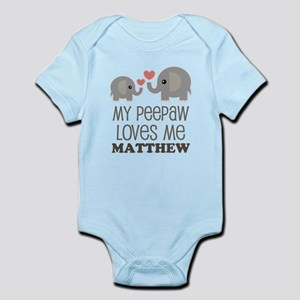 My Peepaw Loves Me Personalized Body Suit