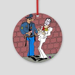 1364_police_cartoon Round Ornament