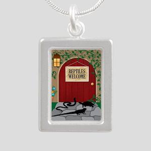 reptileswelcome5x8 Silver Portrait Necklace