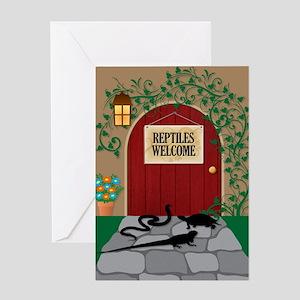 reptileswelcome5x8 Greeting Card
