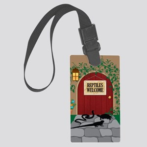 reptileswelcome5x8 Large Luggage Tag