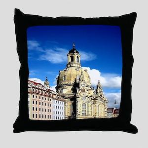 dresden frauenkirche history and city Throw Pillow