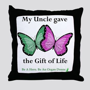 UncleGaveButterfly Throw Pillow