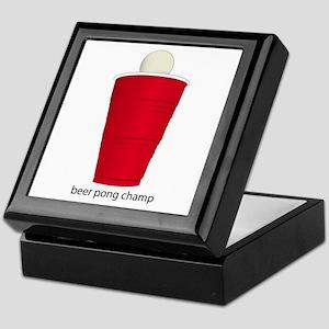 Beer Pong Champ Keepsake Box